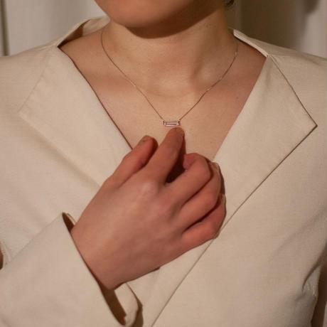 necklace D /  Platina850  - ゴールドルチルクオーツ