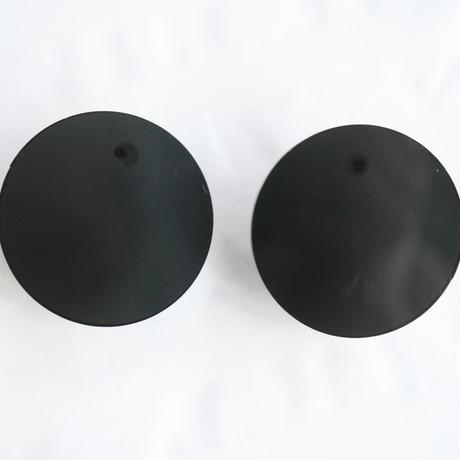 colorful シンプルアクリルピアス 黒