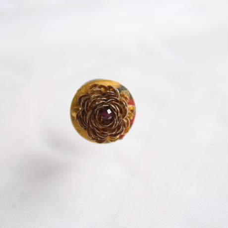 刺繍ブローチ(Kurumi和)ガーネット(1月誕生石)