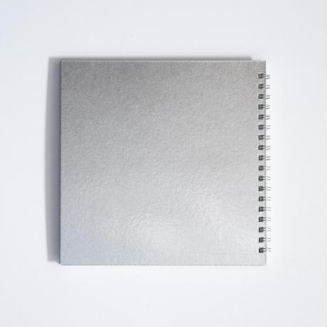 箔のスケッチブック(銀)
