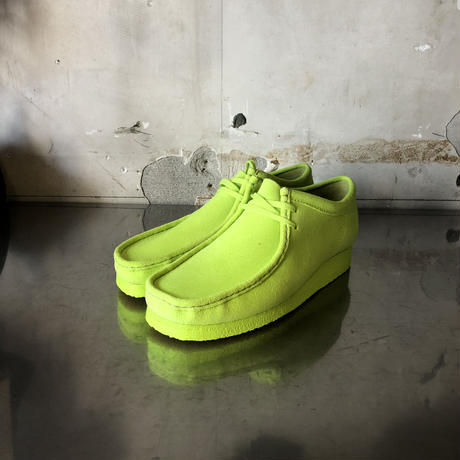 clarks wallabe neon yellow