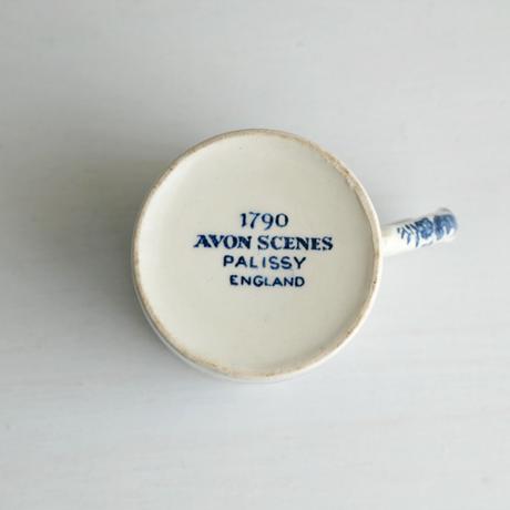 Vintage/England 青い風景の小さなマグカップ