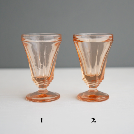 Vintage/France ナンバリングPetitグラス4個セット