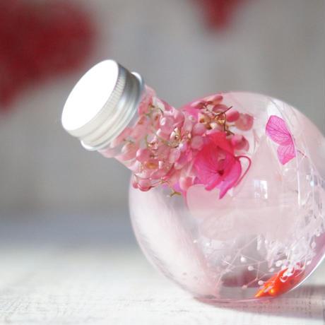 バレンタイン&ホワイトデー ラウンドシェイプハーバリウム/pink