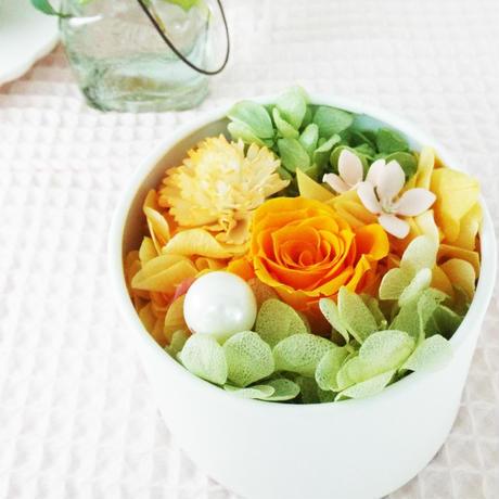 Mother's Day プリザーブド BOXアレンジメント 【orange】
