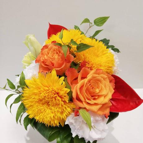 【生花定期便/週1回お届け】大切な人に贈るプラン/旬の花のアレンジメント