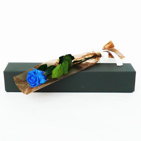 プリザーブドローズの一輪ボックス【Blue】