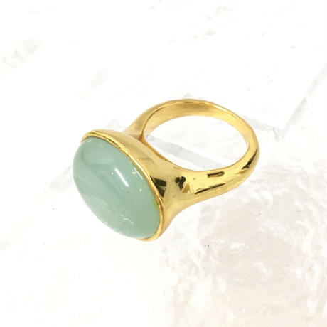 Aqua Glass Ring