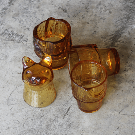 """Kitty Stackable Glass """"Amber"""""""