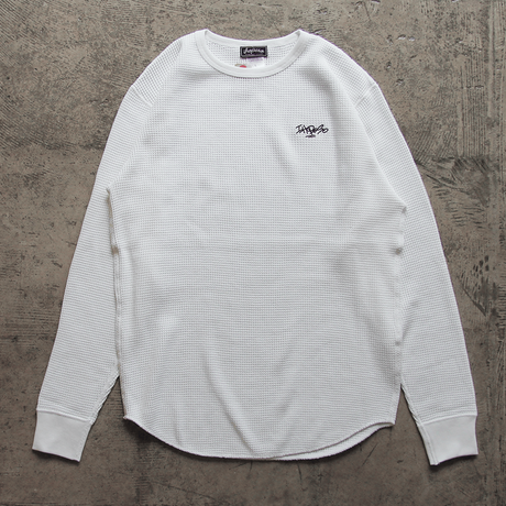 HEAVY WEIGHT THERMAL  L/S Tee Shirt - White