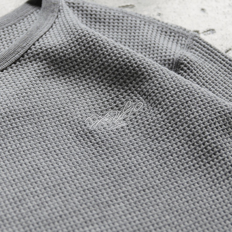 HEAVY WEIGHT THERMAL  L/S Tee Shirt - Gray