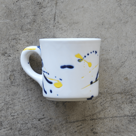 Splash Mug / Blue & Yellow