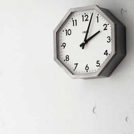 "Lowis Octagon Clock ""Silver"""