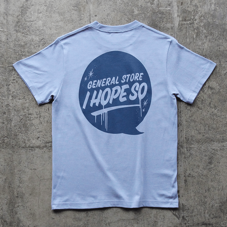 Drip Logo Tee Shirt - Sax Blue