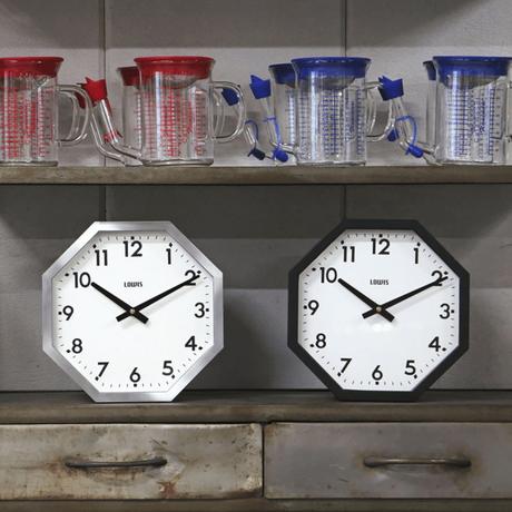 "Lowis Octagon Clock ""Black"""