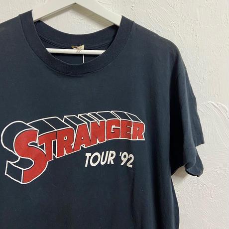 "USED● SCREEN STARS Size XL "" STRANGER "" Tour 92 Tシャツ バンド ロック ブラック"