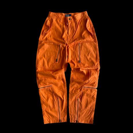 USED● 2000s Polo By Ralph Lauren ポロ バイ ラルフローレン Cotton Flight Pants Orange フライトパンツ オレンジ
