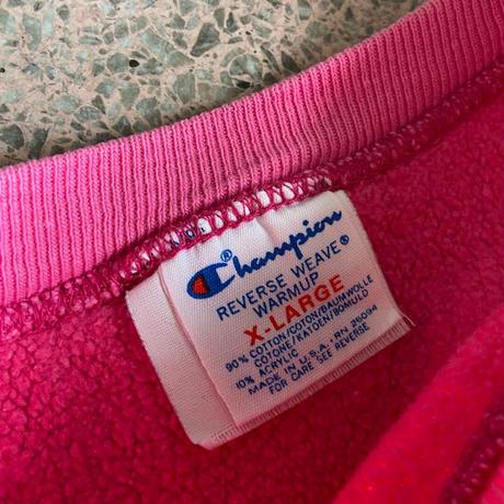 USED● 1980s Champion Size XL REVERSE WEAVE Pink チャンピオン リバースウィーブ ピンク
