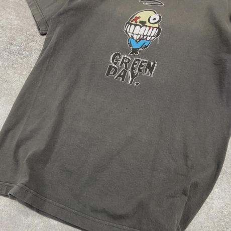 USED● 2000s GREEN DAY made in usa Size M Murina Tシャツ Gray Old Band Tee バンド グリーンデイ