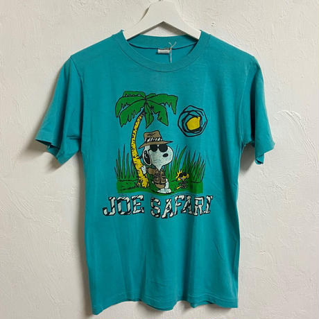 USED● ARTEX made in usa Snoopy Tee (M) アルテックス スヌーピー Tシャツ ターコイズブルー