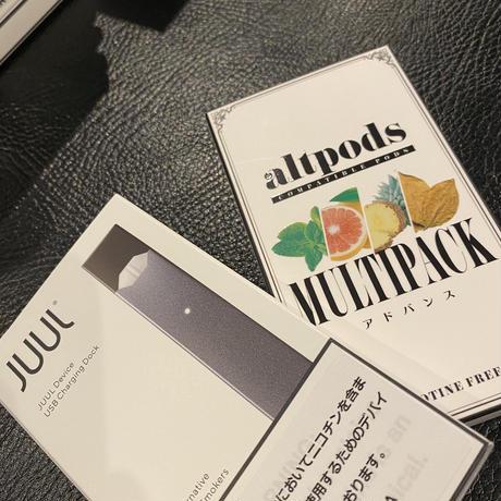 【期間限定BeyondVape】JUUL本体+altpods アドバンスマルチパック(お試し4種)1箱付き