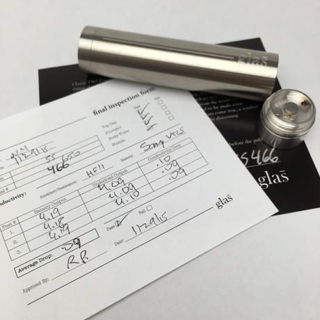 Glas Signature Series 18650 Mod By Glas Vapor