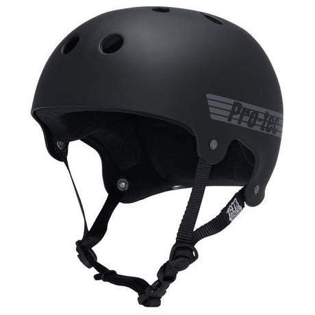 PRO-TEC THE BUCKY  BLACK RUBBER ヘルメット