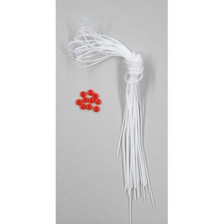 替え糸(10本セット)/白(ビーズ1個3円