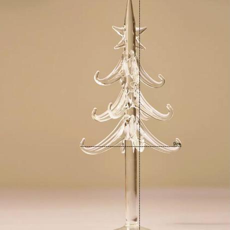 オーダー納期11月以降♡3段クリスマスガラスツリー♡ シャネルverゴールド♡イルサローネアレンジ