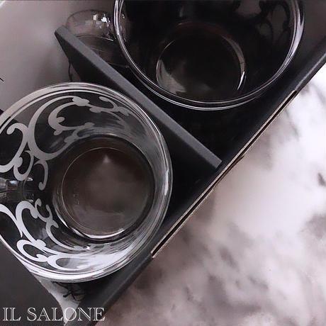 2個入り♡ビックなガラスペアマグ♡コルクソーサー付き♡BOX入り。