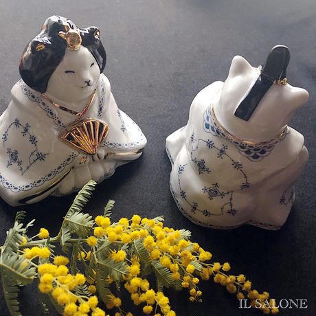 猫雛オーダー(お内裏猫、お雛猫のセット)