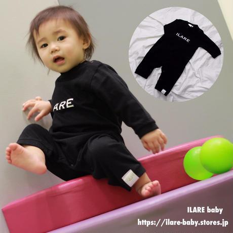 ILARE/ロゴ/ロンパース/ブラック