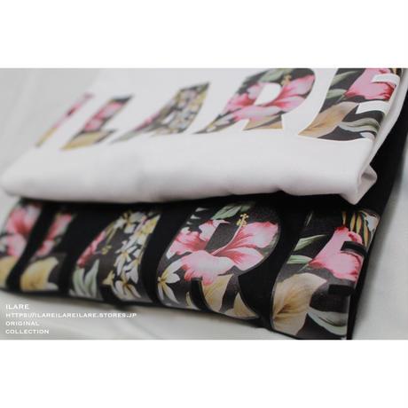 ILAREオリジナルフラワーロゴTシャツ/ホワイト・ブラック