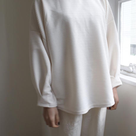 Dolman sleeve cut sew white