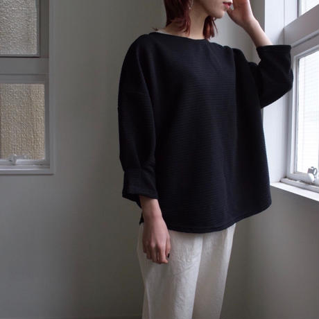 Dolman sleeve cut sew Black