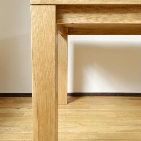 【受注生産品】オリジナルダイニングテーブルDTO/02W天板:ナラ 脚:ナラ角脚)W1200