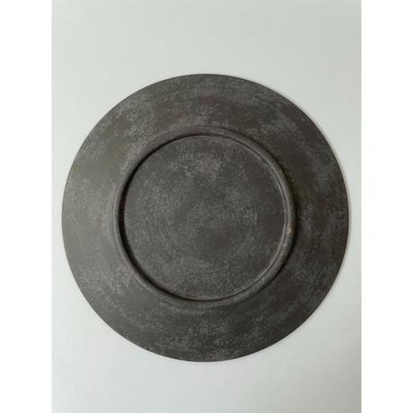 7寸皿(黒・緑)/ 岡崎慧佑