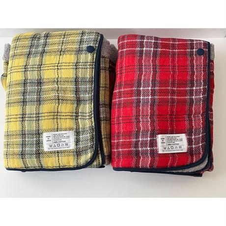 コンテックス/タータンチェックフード付バスタオル