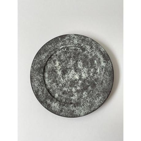5寸リム皿(黒・緑)/ 岡崎慧佑