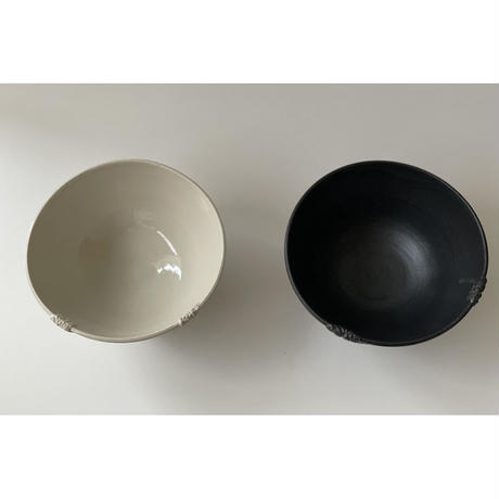 Crochet noir / blanc  ボウル / NUIT 原田聡美