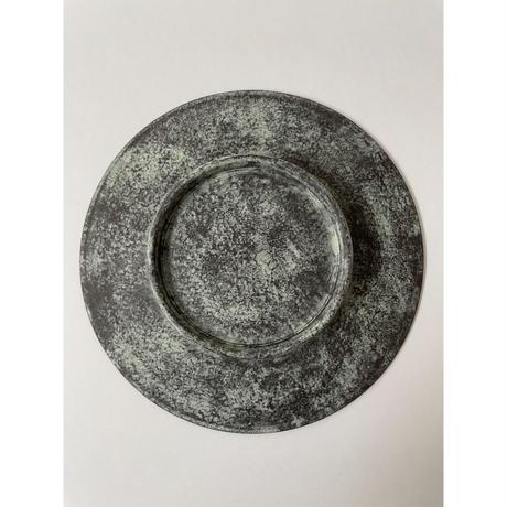 6寸皿(黒・緑)/ 岡崎慧佑