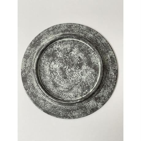 7寸リム皿 (黒・緑) / 岡崎慧佑