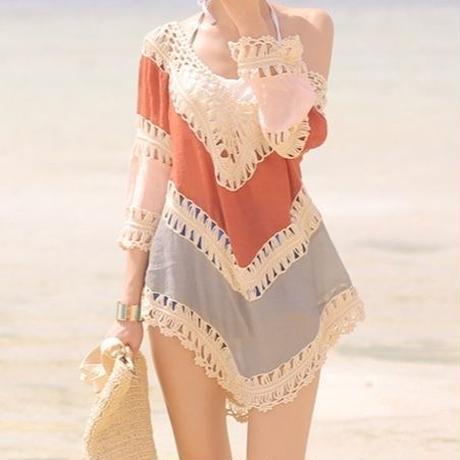 stitching beachwear
