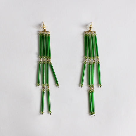 tassels earrings (hand-knit )