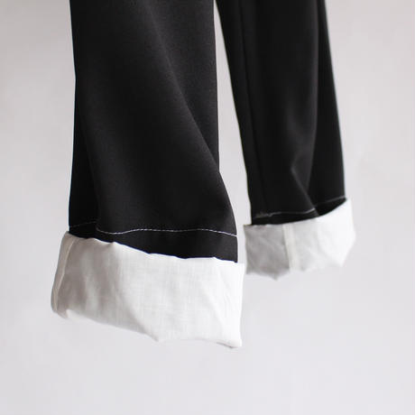 retro high waist cuff pants