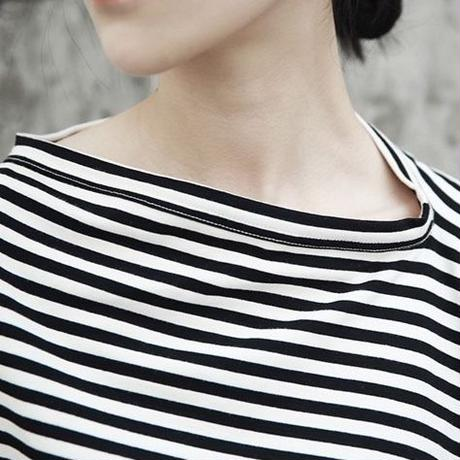 naname stripe T-shirt