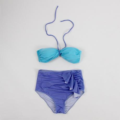 2way-striped hit color bikini