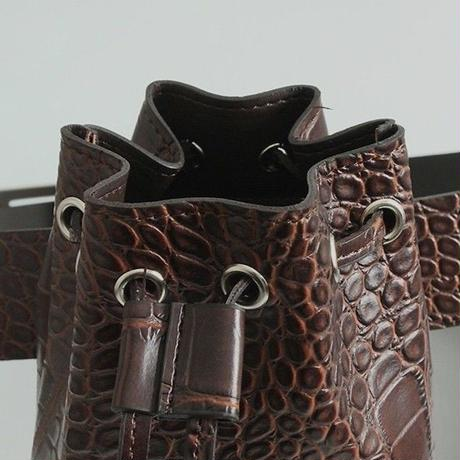 crocodile buckle waist bag