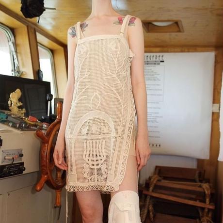 lace crochet sling dress