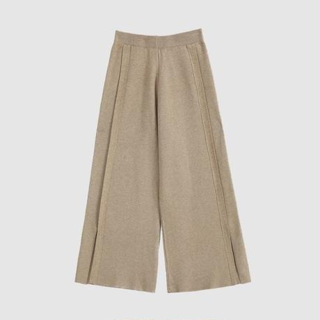 split knit wide pants